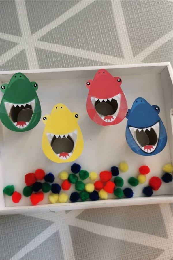 easy shark feeding craft