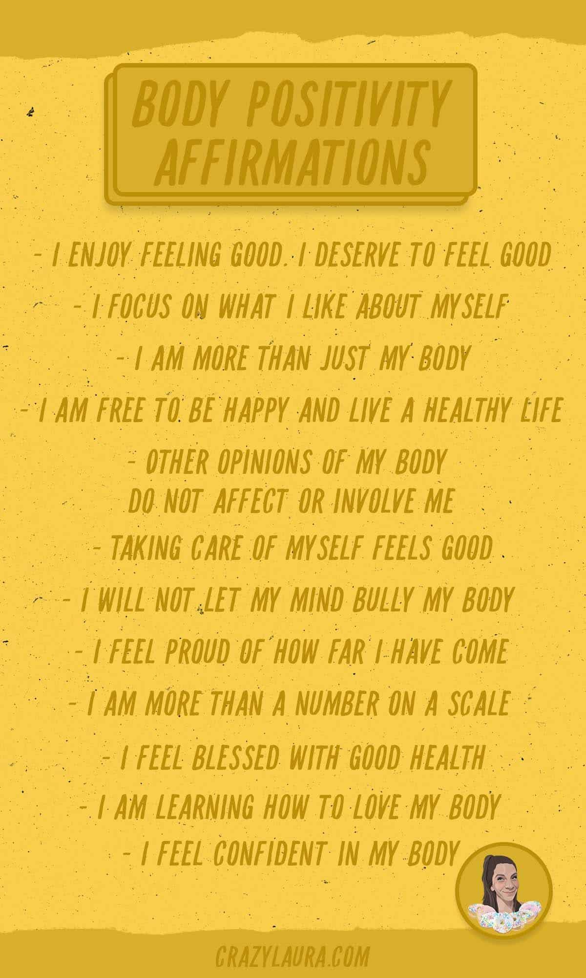 body positivity printable cards