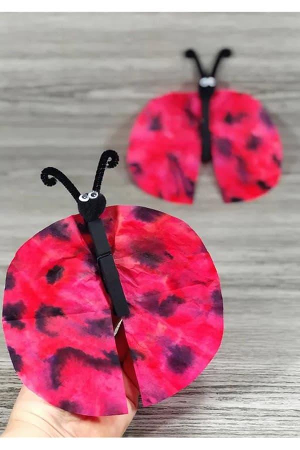 easy lady bug kids craft