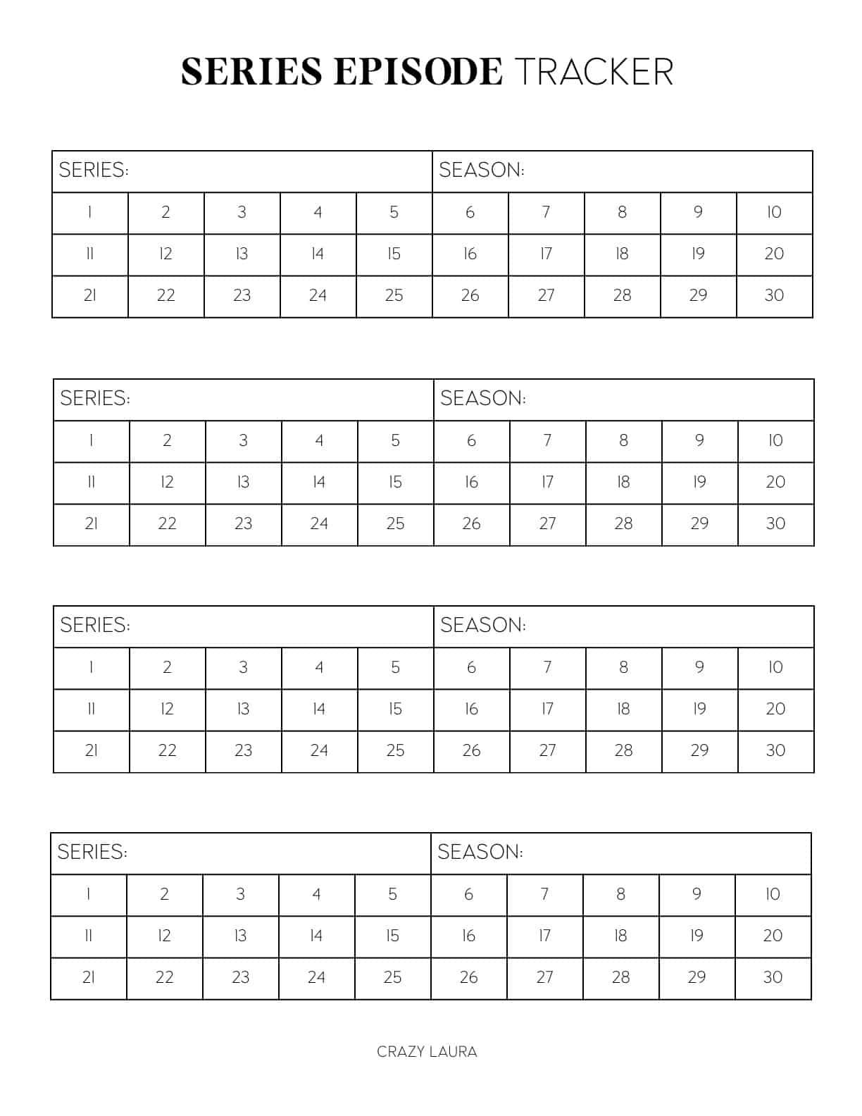 episode tracker printable pdf