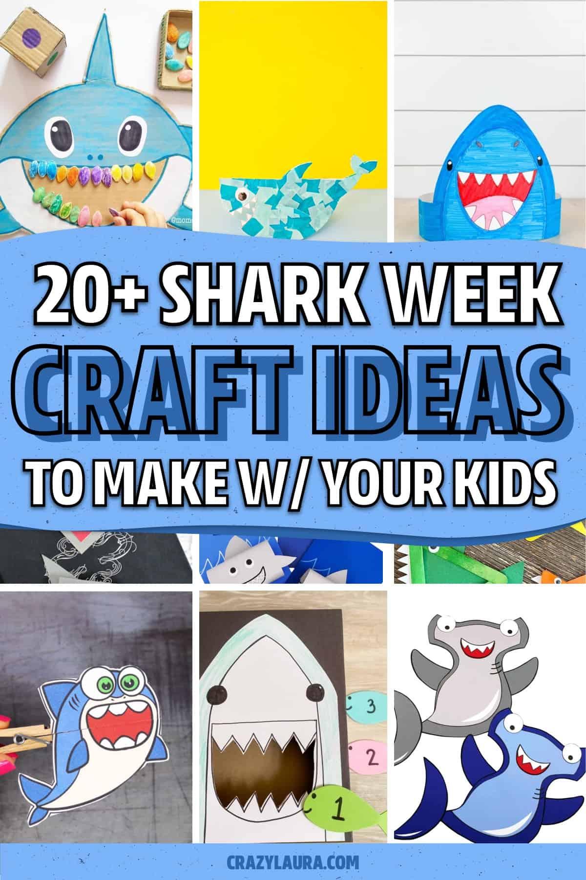 super cute diy shark crafts