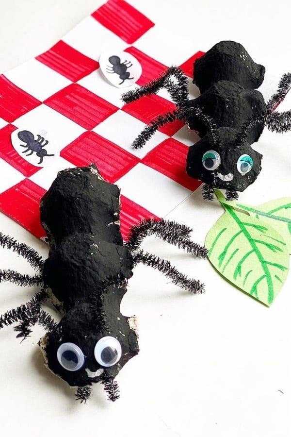 cheap kids craft making bugs