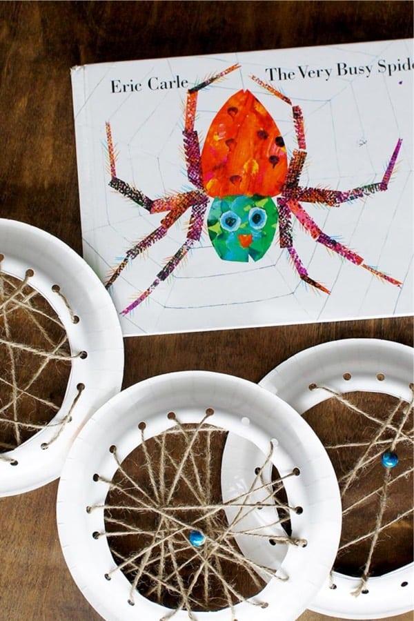easy spider web kids craft