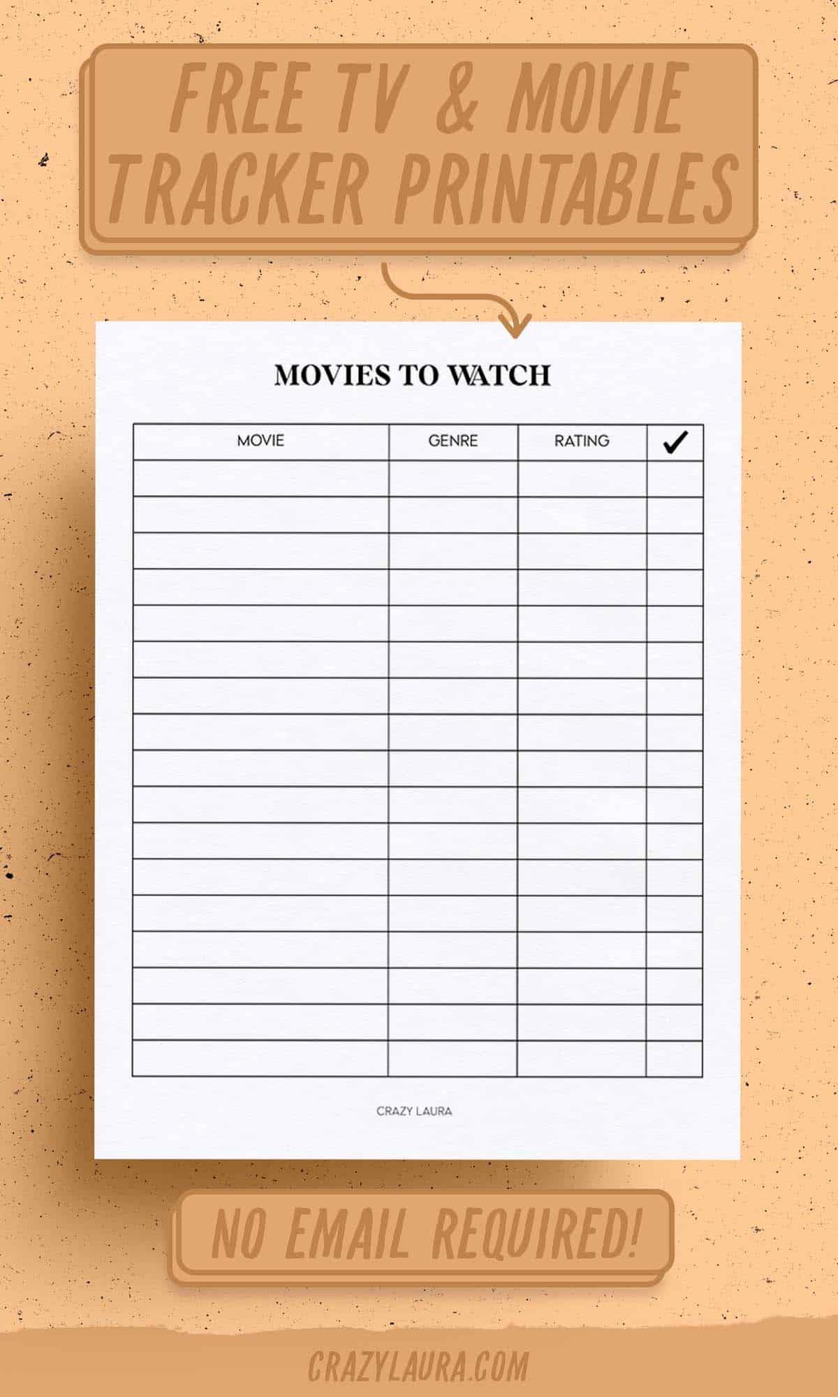 blank tv series printable tracker