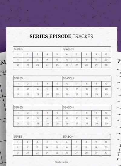 free movie tracker printables
