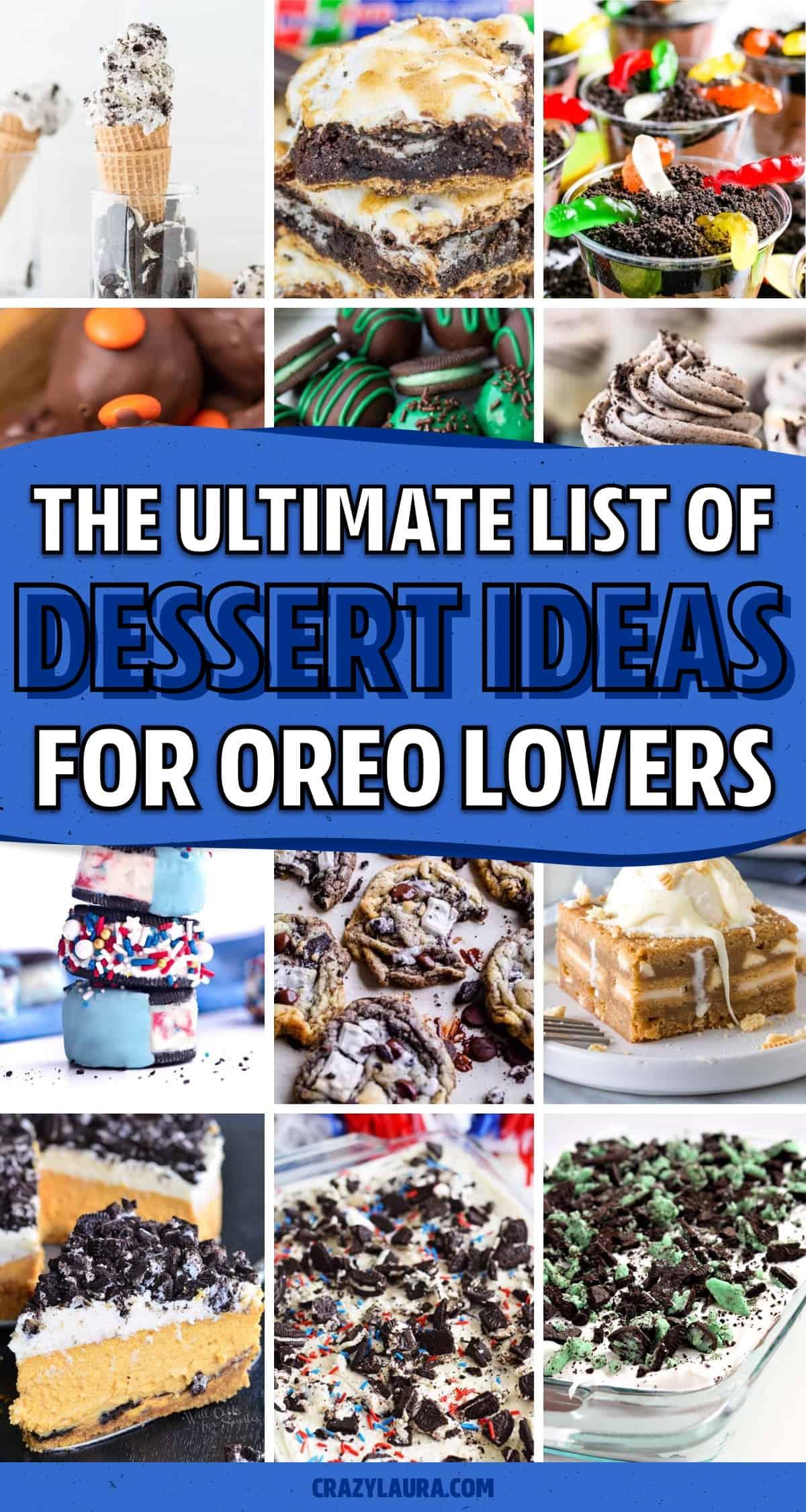 list of dessert ideas