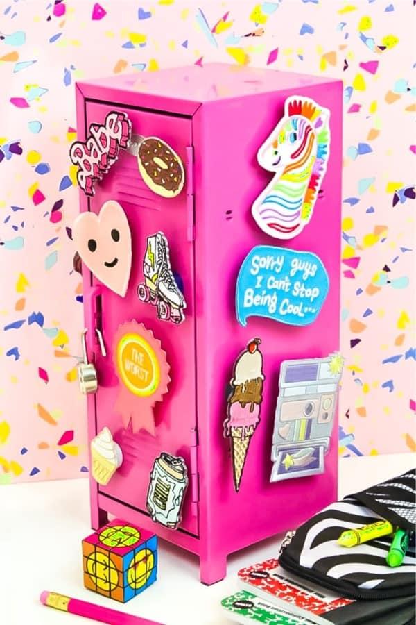 do it yourself locker magnet tutorial for kids