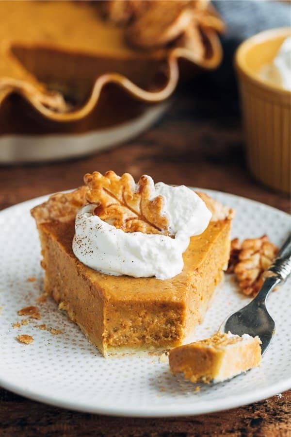 fall pumpkin pie recipe with custard