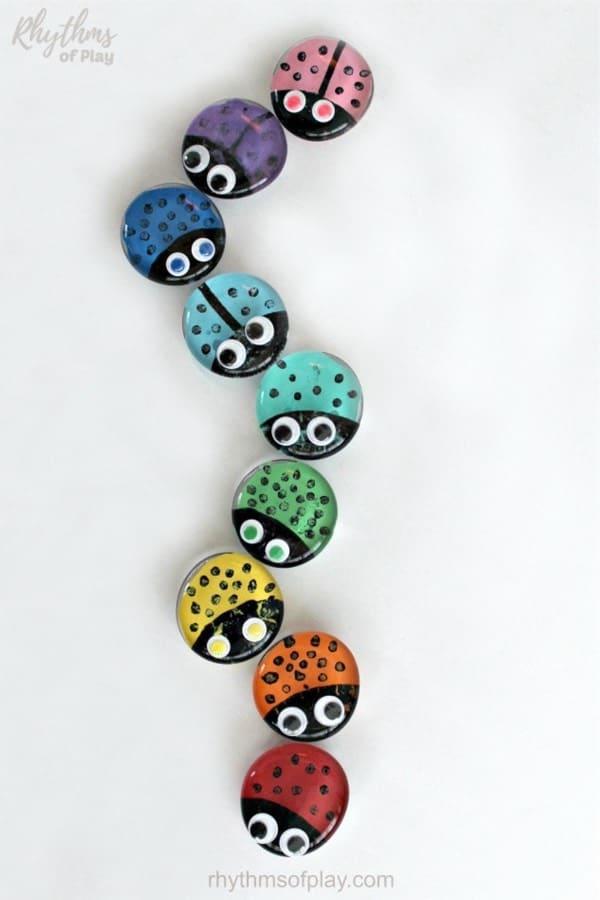 kids craft tutorial with ladybug theme