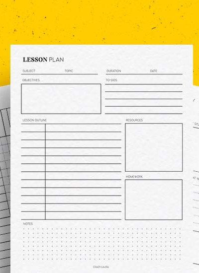 free teacher printables for organization