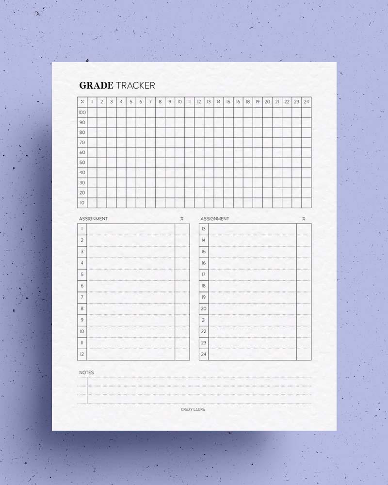 student grade tracker pdf