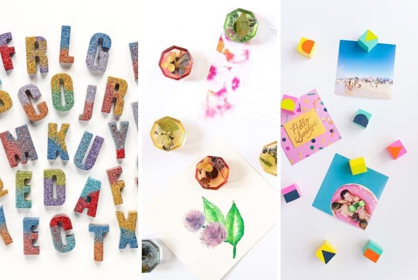 30 + Easy DIY Magnets & Craft Tutorial Ideas