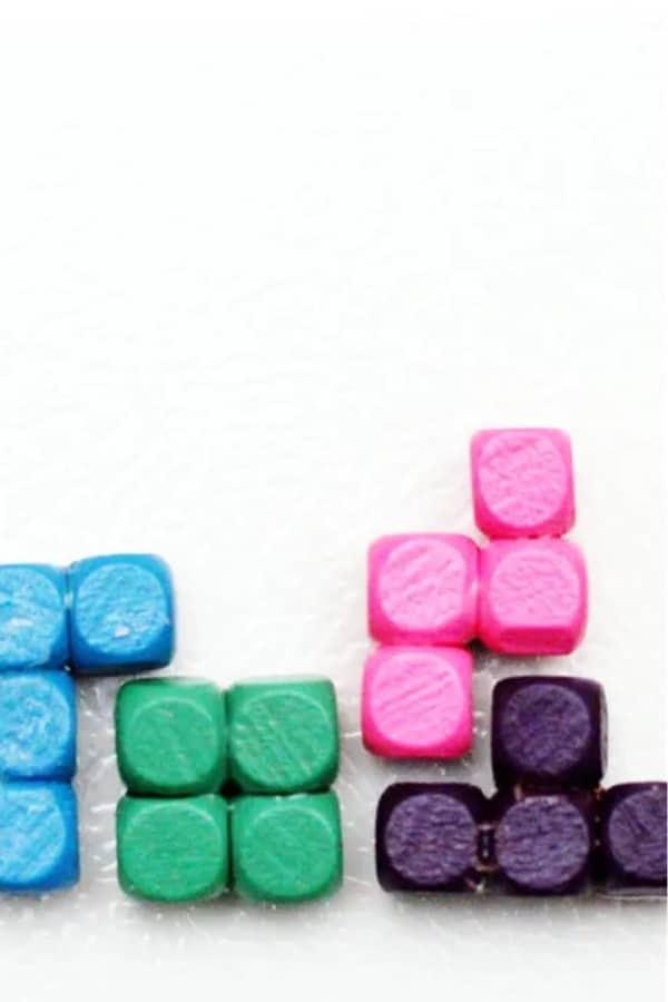 tetris craft example for kids