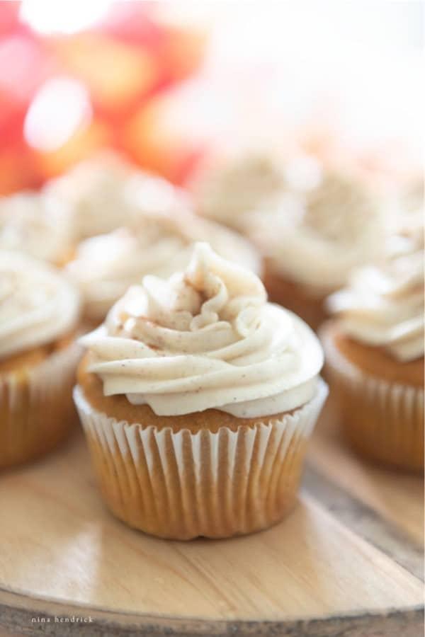 quick cupcake recipe with pumpkin spice