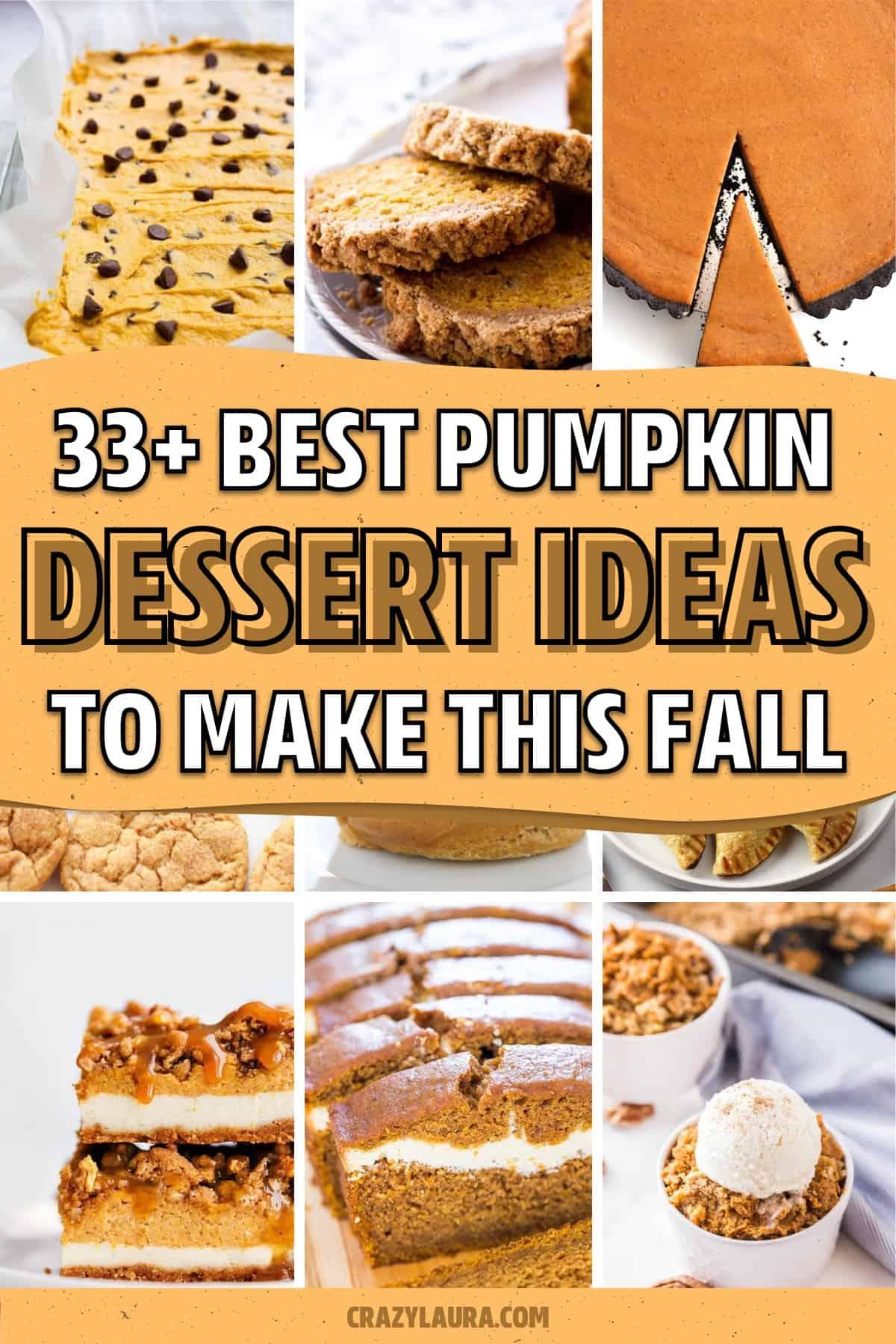 fall treat recipes with pumpkins