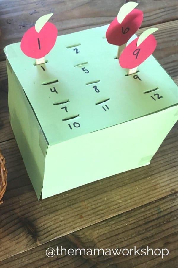 diy paper math game for kids