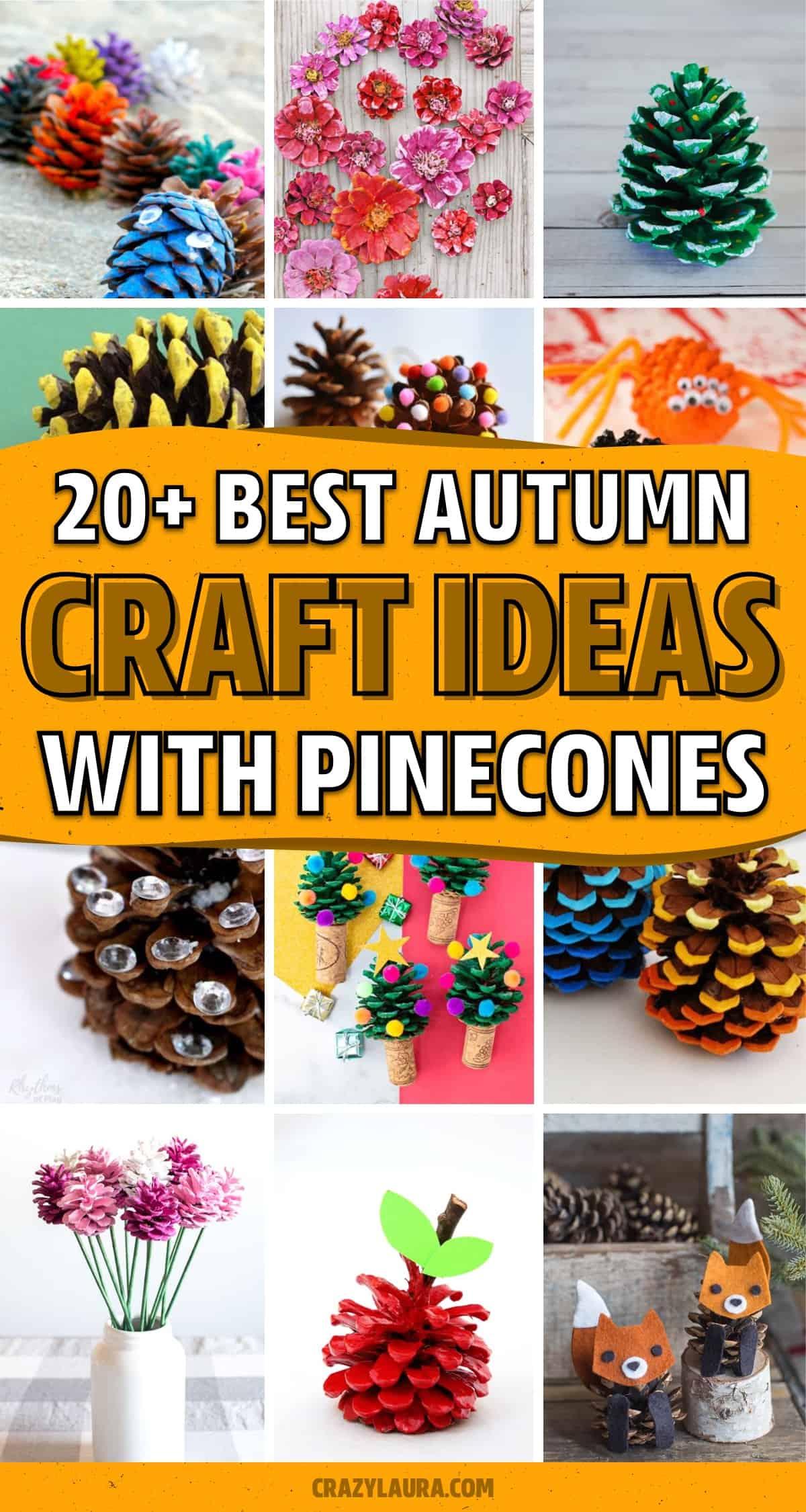 pinecone craft ideas for inspriation