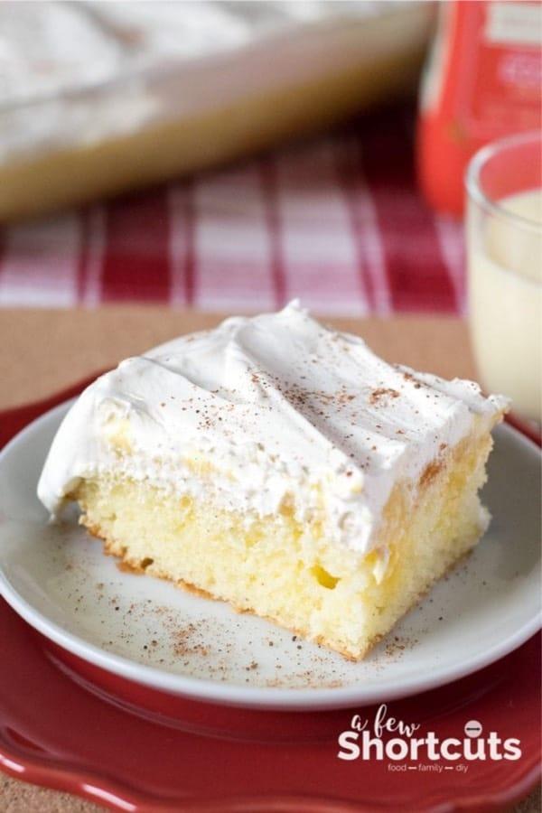 eggnog cake recipe for the holiday season