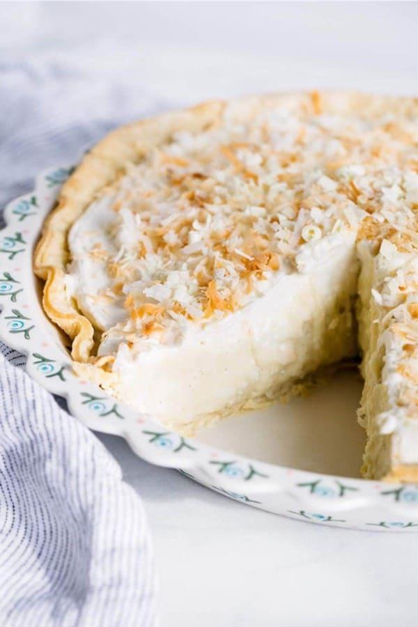 thanksgiving coconut cream pie example