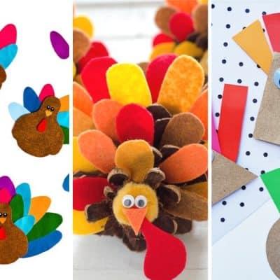 list of the best turkey crafts for kids
