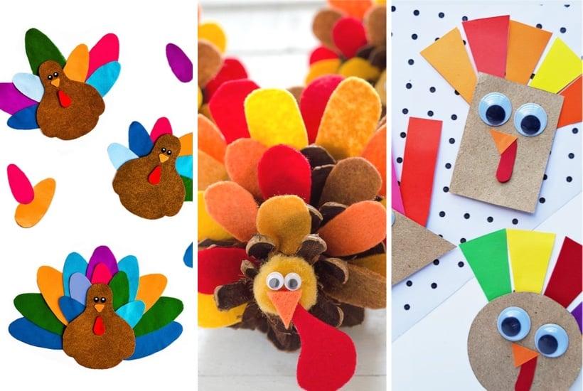20+ Best Turkey Crafts For Kids To Make This Thanksgiving