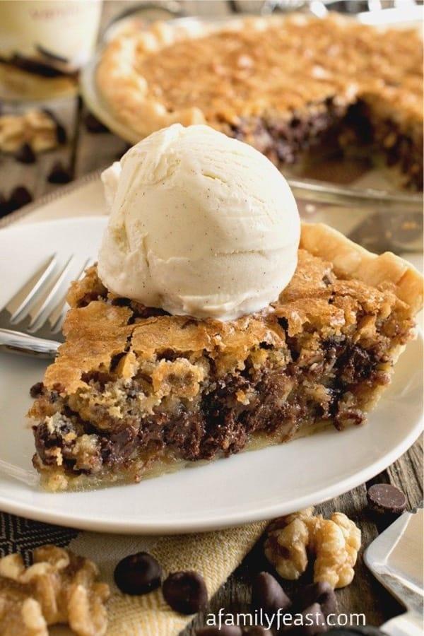 chocolate chip pie recipe idea