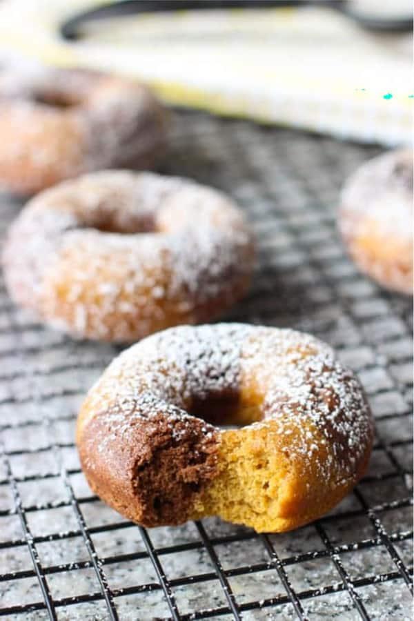 pumpkin donut recipe idea for fall