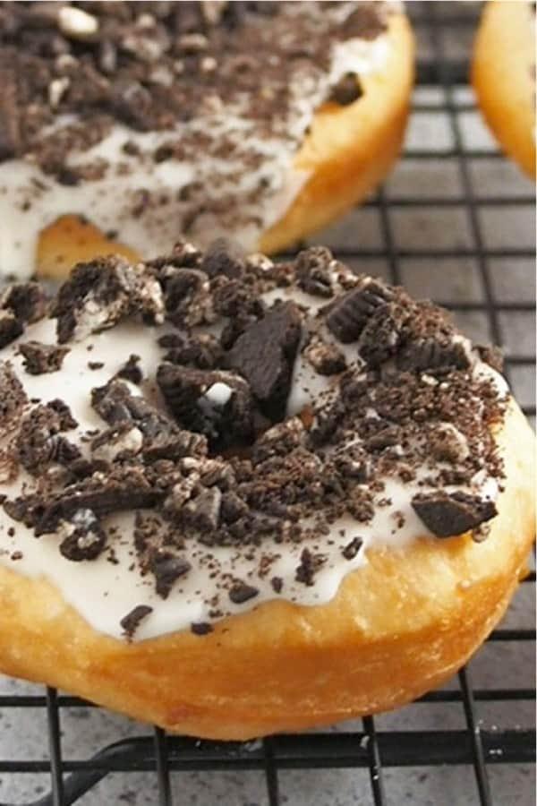 homemade donut recipe with oreo cookies