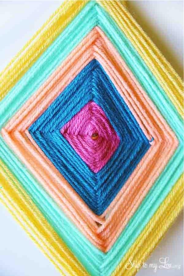 gods eye craft for kids with yarn