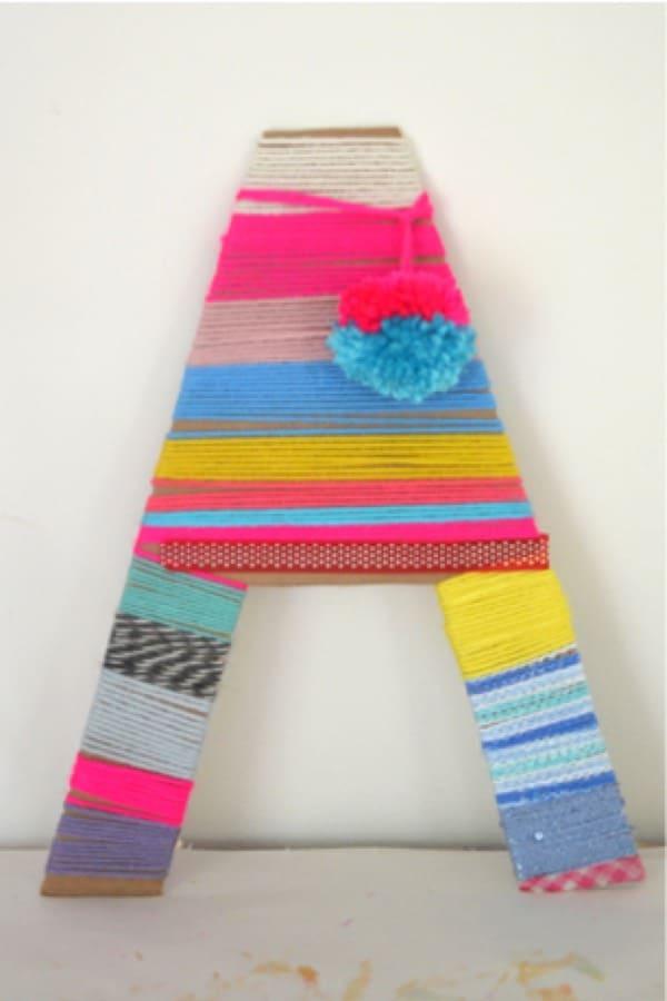 cardboard and yarn craft example