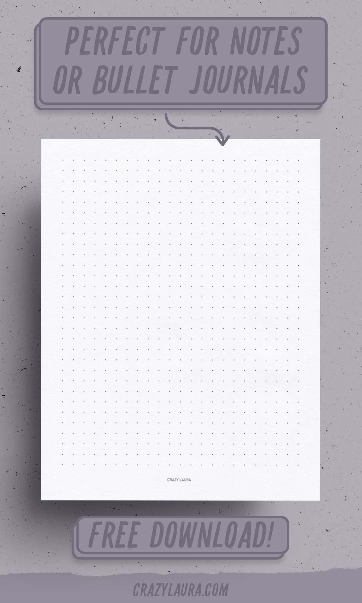 blank dot paper printable pdfs