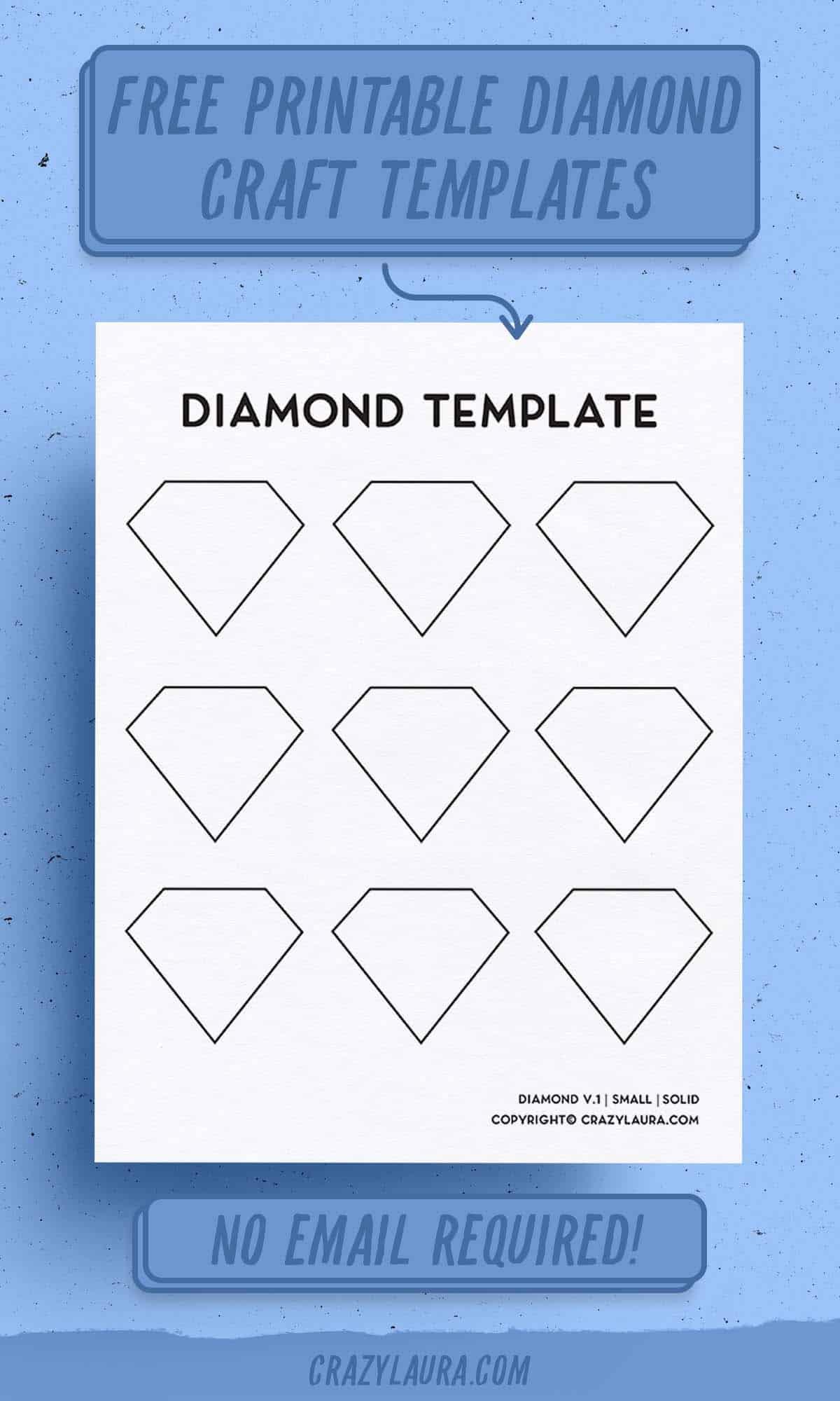 free printable templates with diamonds