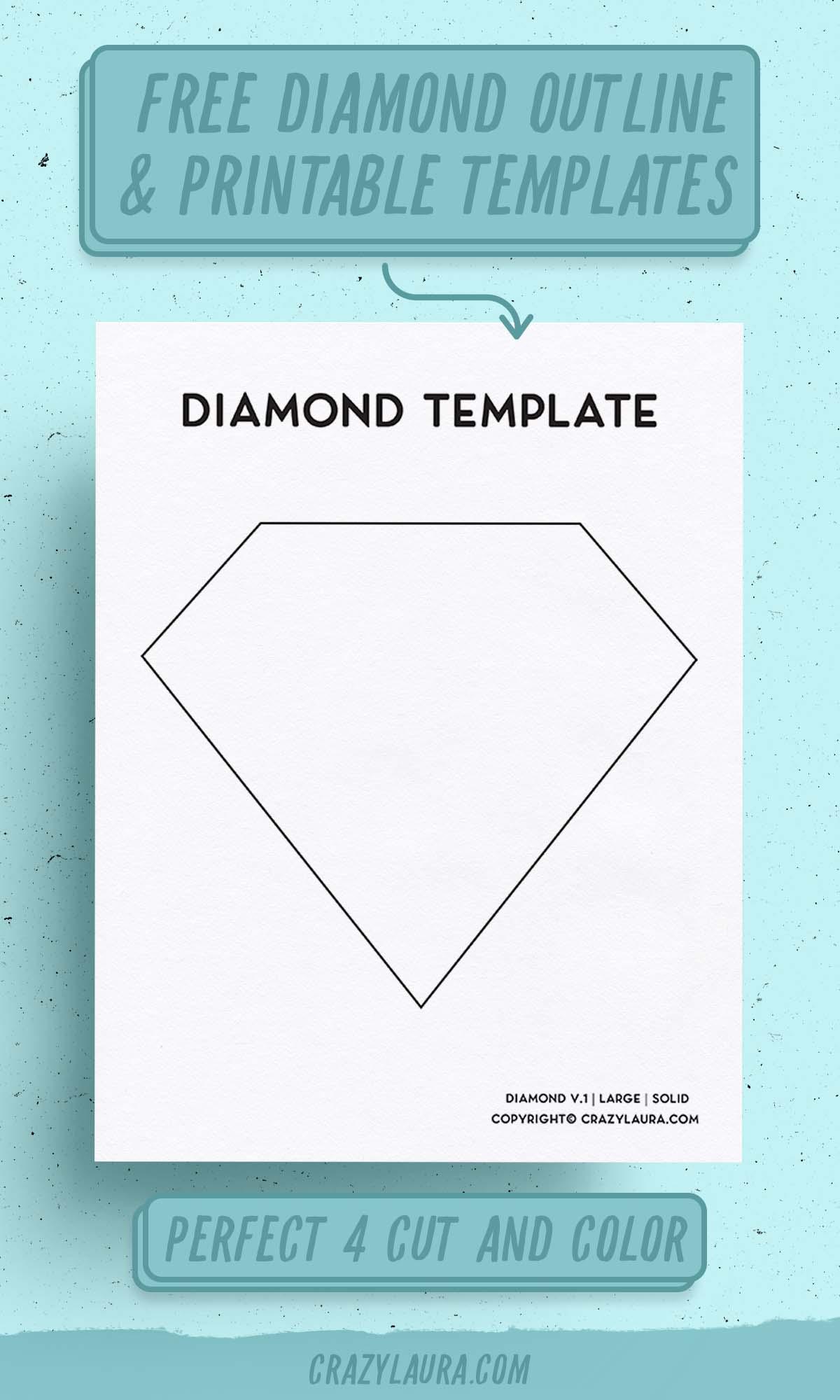 simple diamond printable template