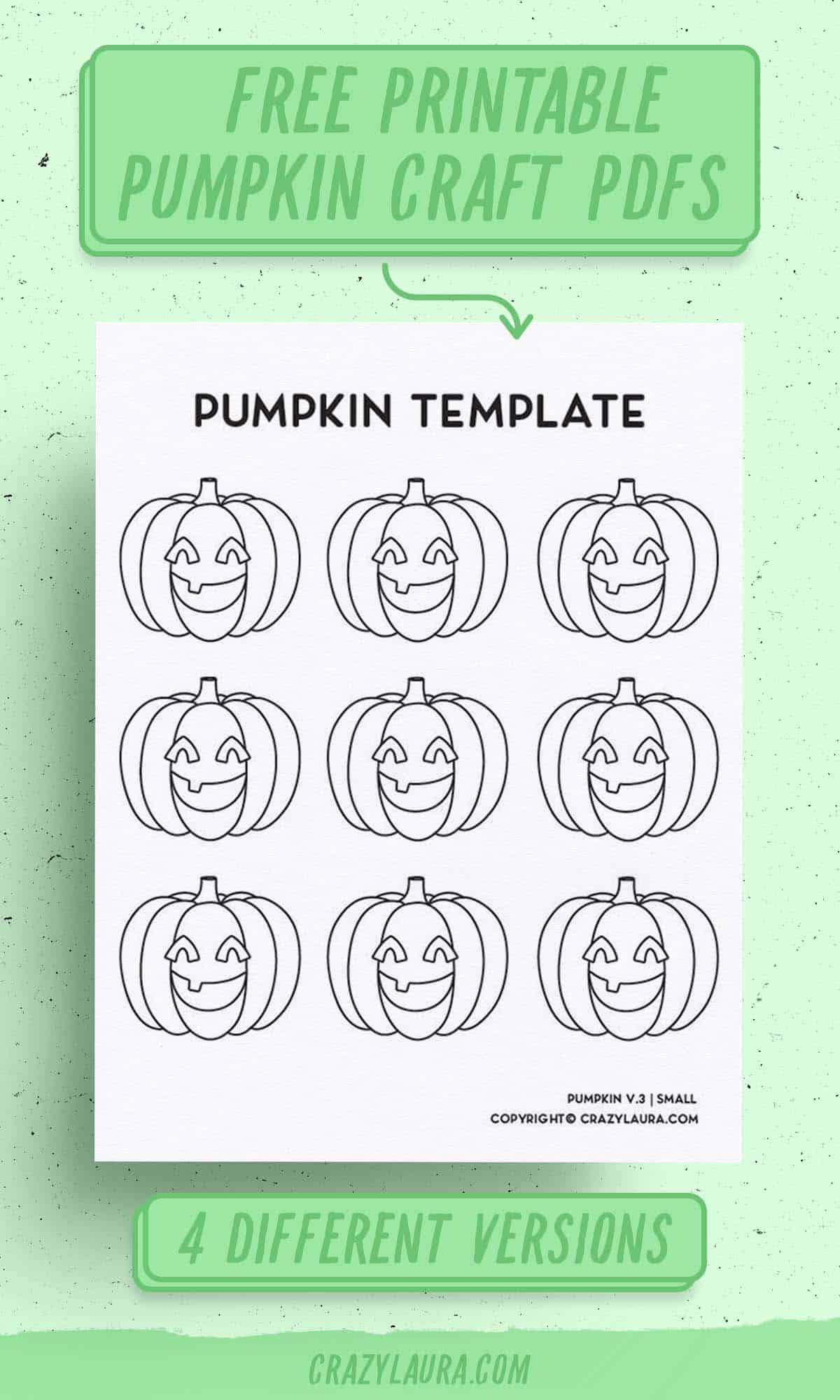 small pumpkin printable sheets