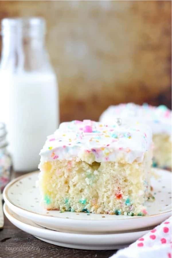 easy poke cake recipe with funfetti