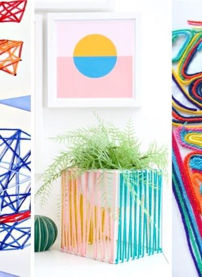 cheap craft ideas using yarn