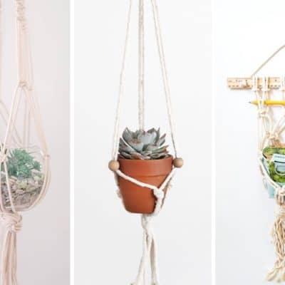 list of the diy macrame plant hangers