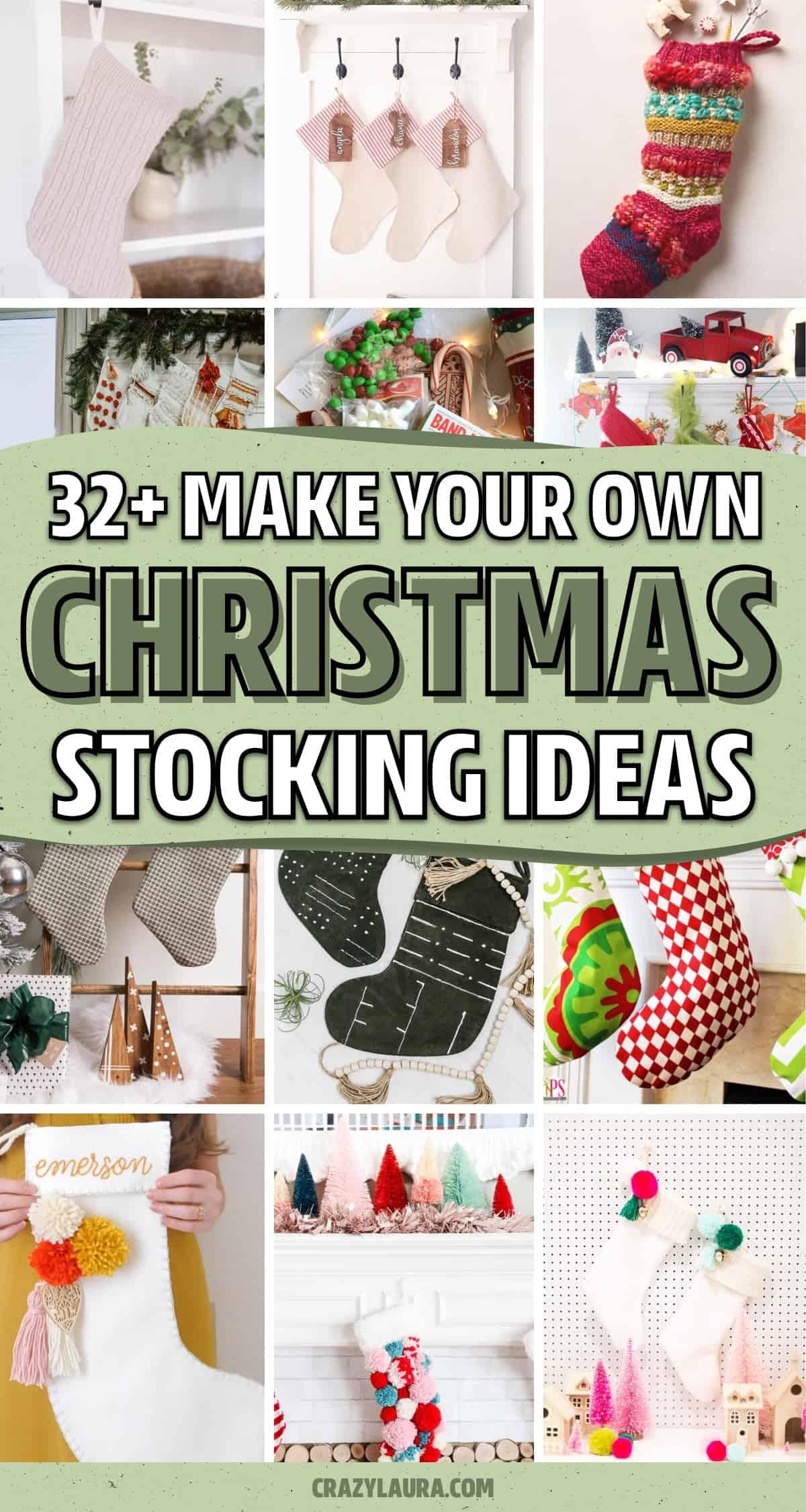 diy holiday mantel hanging gift bags