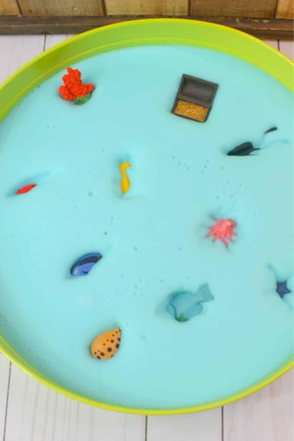 sensory bin for kids with ocean theme