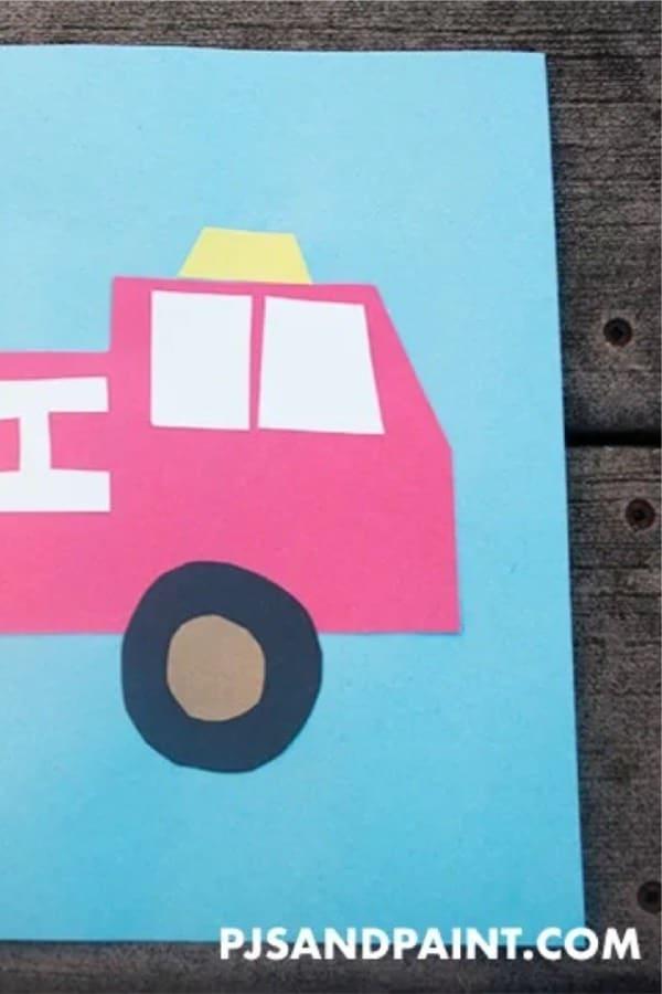 creative fire truck craft for kids
