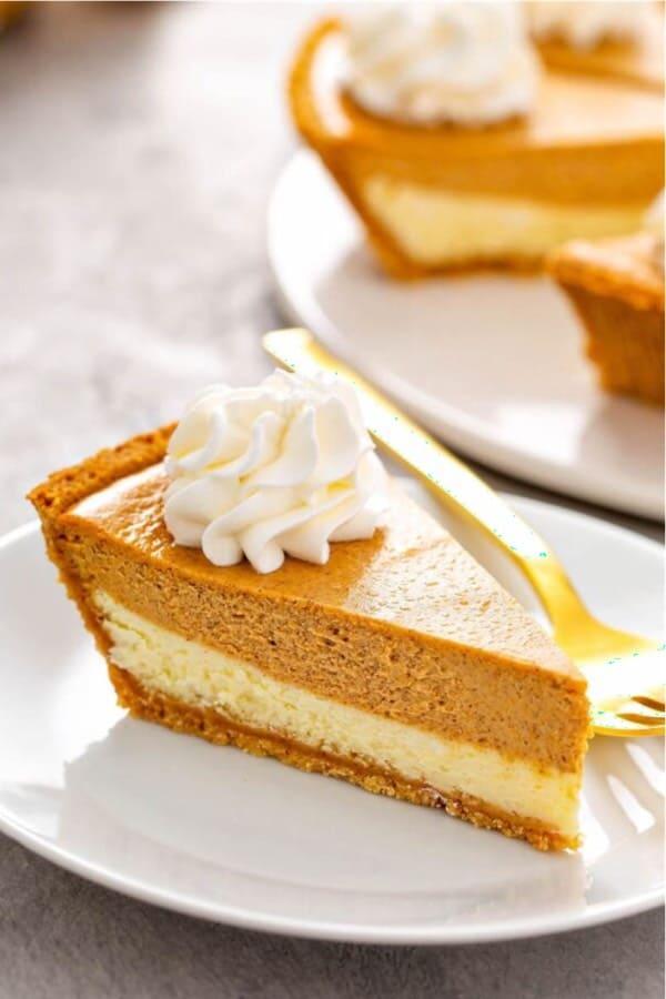 cheesecake and pumpkin dessert for thanksgiving