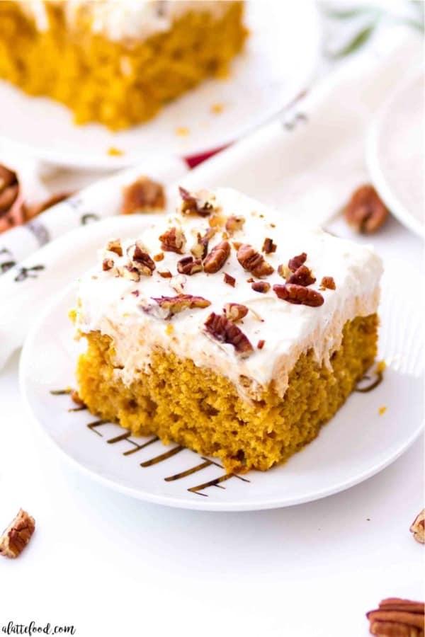 fall cake recipe with pumpkin flavor