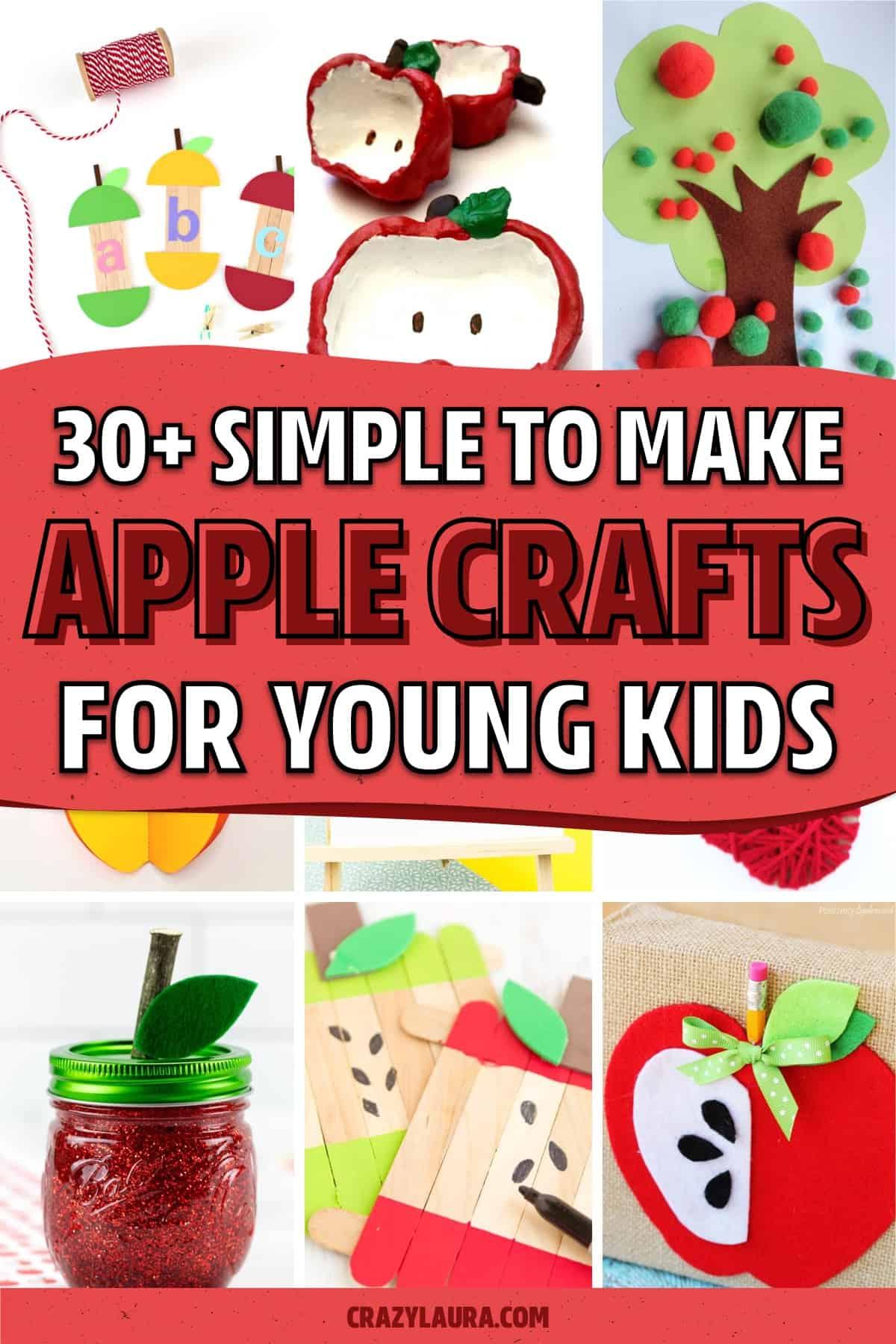 preschool craft tutorials with apple shapes