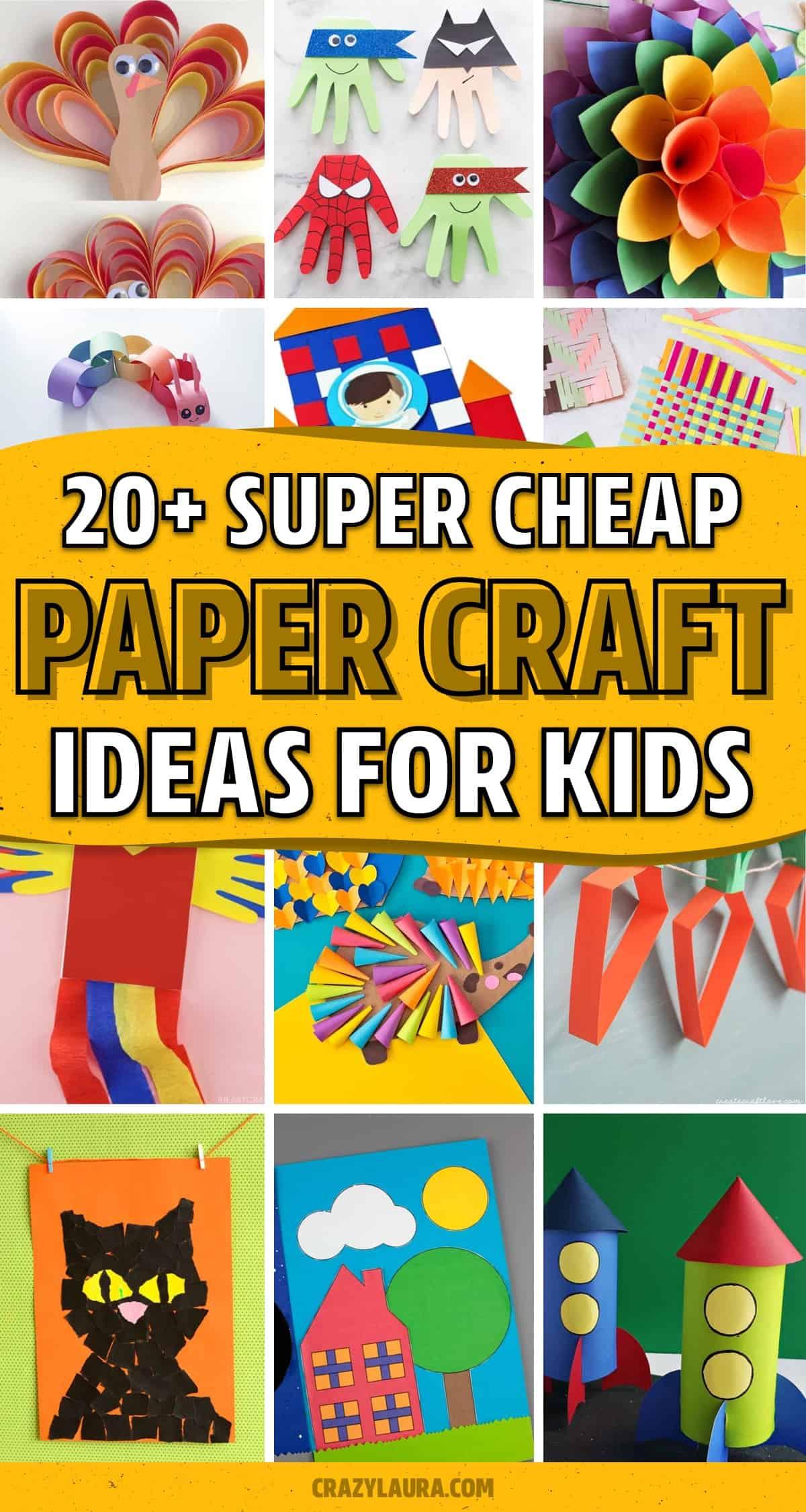 construction paper tutorial ideas for kids