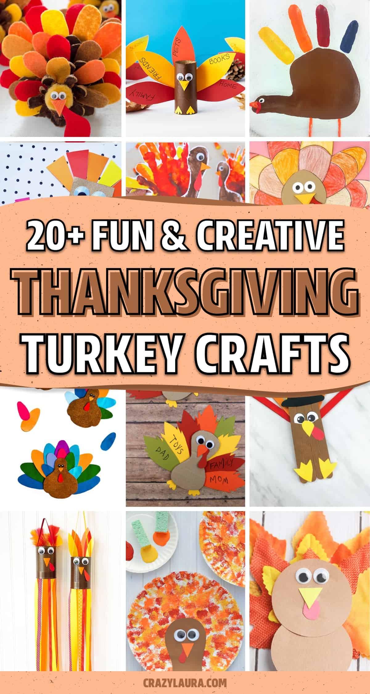 turkey craft tutorials for young kids