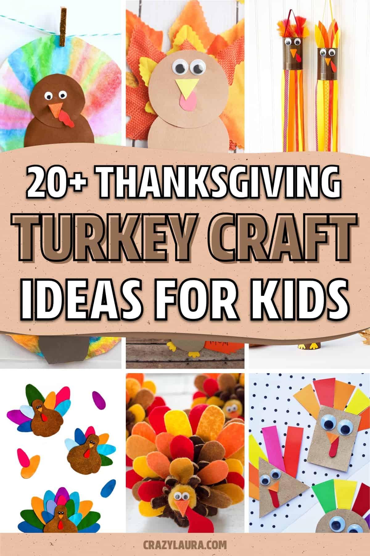 quick thanksgiving turkey craft ideas for kids