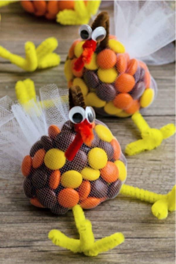 homemade turkey treat craft example for kids