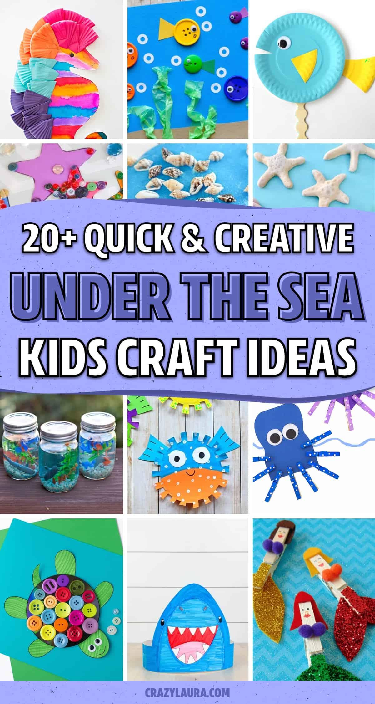 cheap to make under the sea craft tutorials