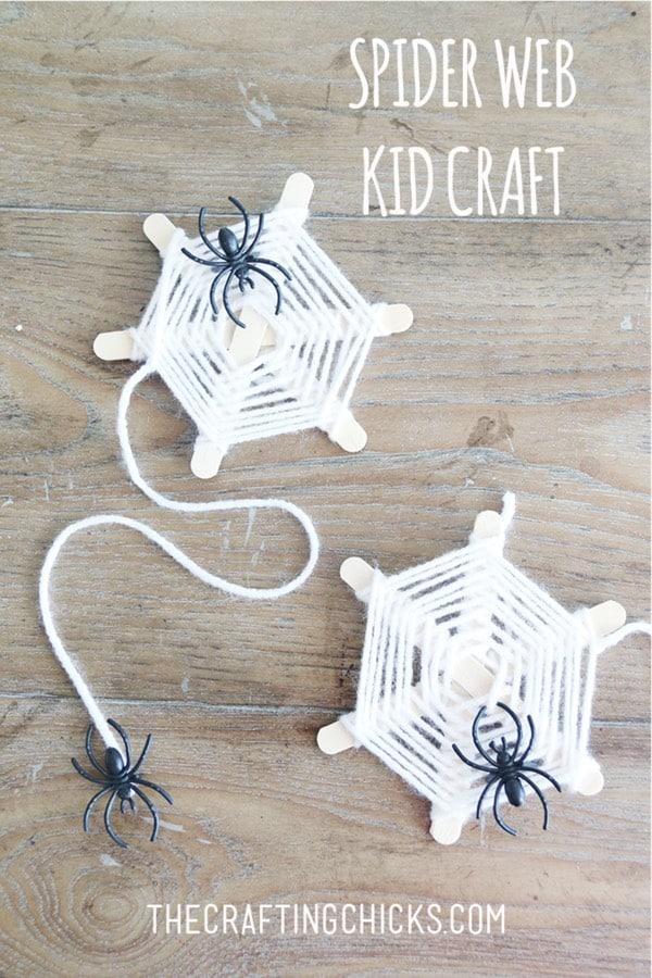 halloween craft for kids with yarn