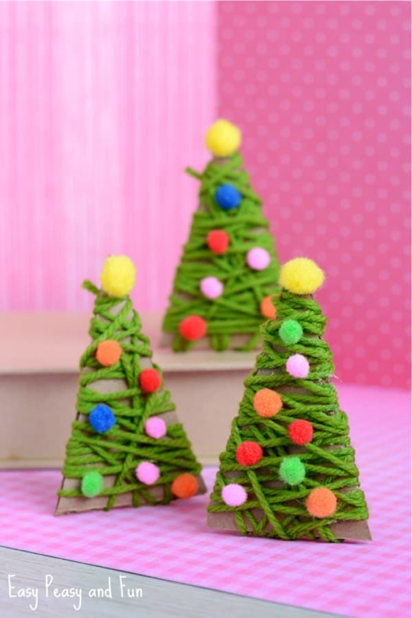 christmas yarn craft project for kids